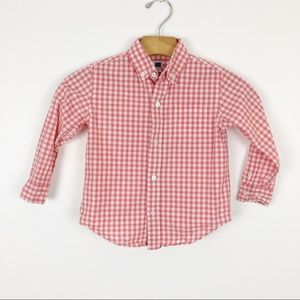 Janie and Jack Gingham Button Down Shirt